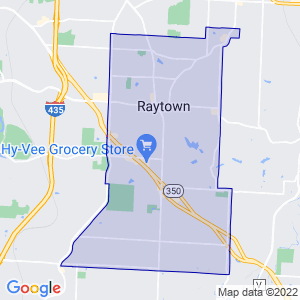 Raytown, Missouri Border Map