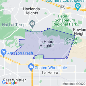 La Habra Heights, California Border Map