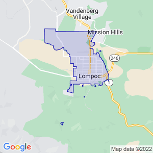Lompoc, California Border Map