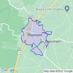 Thurmont, Maryland Border Map