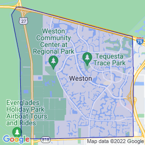 Weston, Florida Border Map