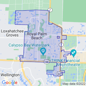 Royal Palm Beach, Florida Border Map