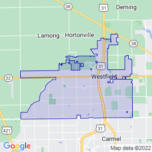 Westfield, Indiana Border Map