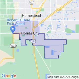 Florida City, Florida Border Map