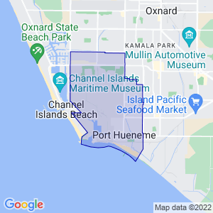 Port Hueneme, California Border Map
