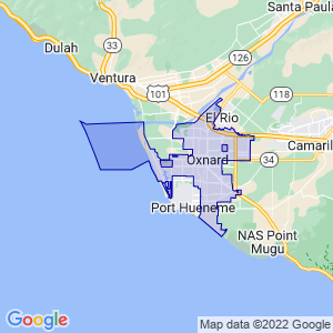 Oxnard, California Border Map