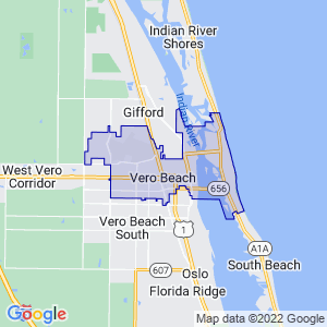 Vero Beach, Florida Border Map
