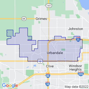 Urbandale, Iowa Border Map