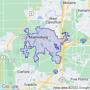 Miamisburg, Ohio Border Map