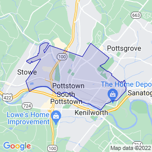 Pottstown, Pennsylvania Border Map