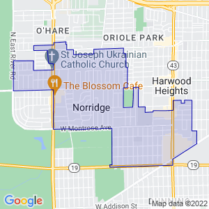 Norridge, Illinois Border Map