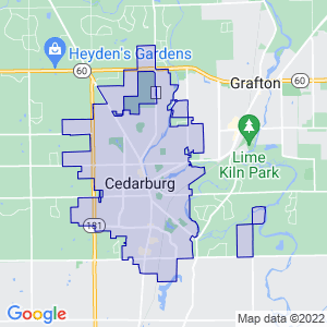 Cedarburg, Wisconsin Border Map