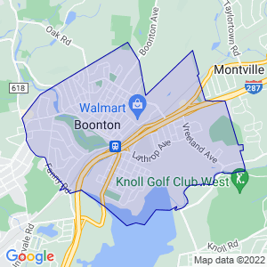 Boonton, New Jersey Border Map