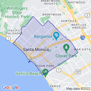Santa Monica, California Border Map