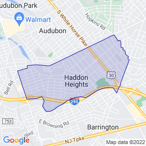 Haddon Heights, New Jersey Border Map
