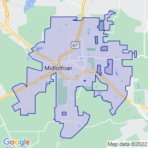 Midlothian, Texas Border Map