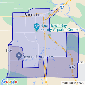 Burkburnett, Texas Border Map