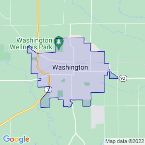 Washington, Iowa Border Map