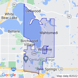 Mahtomedi, Minnesota Border Map