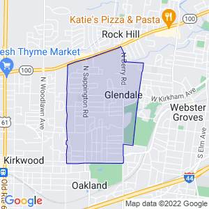 Glendale, Missouri Border Map