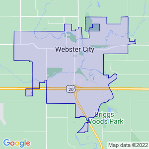 Webster City, Iowa Border Map