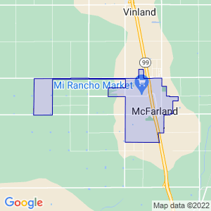 McFarland, California Border Map