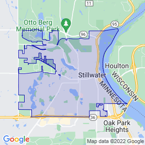 Stillwater, Minnesota Border Map