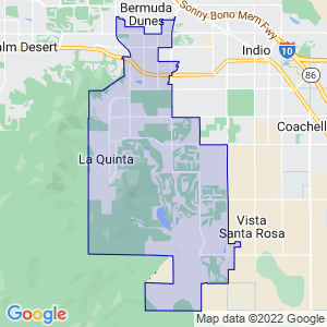 La Quinta, California Border Map