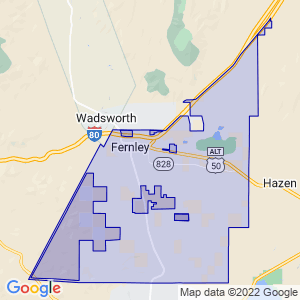 Fernley, Nevada Border Map