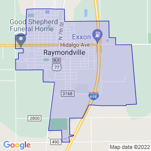 Raymondville, Texas Border Map