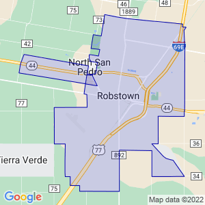 Robstown, Texas Border Map