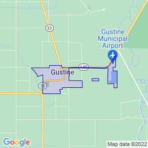 Gustine, California Border Map