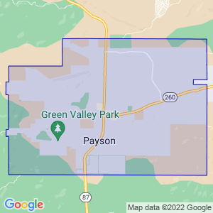 Payson, Arizona Border Map