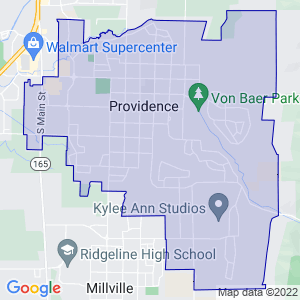 Providence, Utah Border Map
