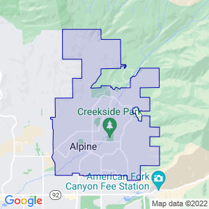 Alpine, Utah Border Map