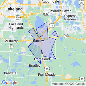 Bartow, Florida Border Map