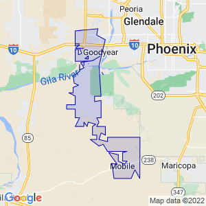 Goodyear, Arizona Border Map