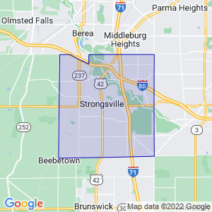 Strongsville, Ohio Border Map
