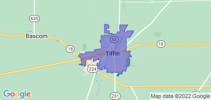 Tiffin, Ohio Border Map