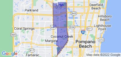 Coconut Creek, Florida Border Map
