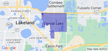 Crystal Lake, Florida Border Map