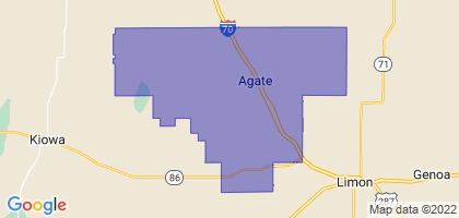 Agate School District 300, Colorado Border Map