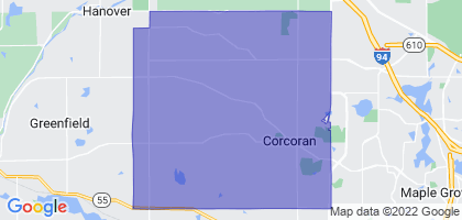 Corcoran, Minnesota Border Map