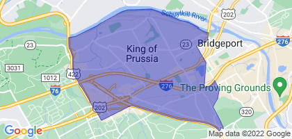 King of Prussia, Pennsylvania Border Map