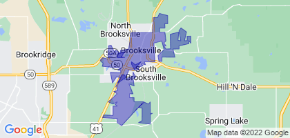 Brooksville, Florida Border Map