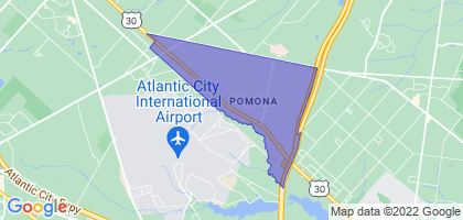 Pomona, New Jersey Border Map