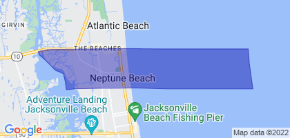 Neptune Beach, Florida Border Map