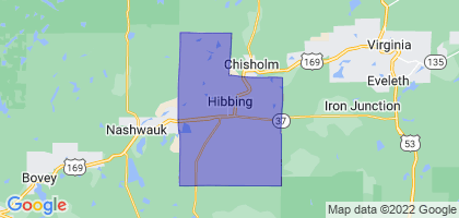 Hibbing, Minnesota Border Map