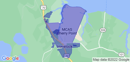 Havelock, North Carolina Border Map