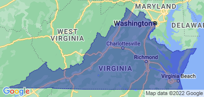 Virginia Border Map